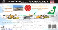 1/144 1/200 1/400 1/500 Scale Decal Eva Air A-321 Guatemala