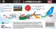 1/144 1/200 1/400 1/500 Scale Decal A-321 Wizzair Olympics