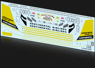 1/144 Scale Decal Continental 707 Golden Jet
