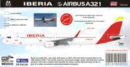1/144 Scale Decal Iberia A-321 2016