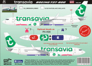 1/144 Scale Decal Boeing 737-800 Transavia 2015
