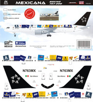 1/144 Scale Decal Mexicana 757-200 Star Alliance