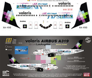 1/144 Scale Decal Volaris A-319 KLAX