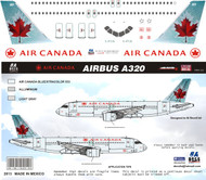 1/144 Scale Decal Air Canada A-320