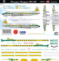 1/144 1/72 Scale Decal Panagra DC-6