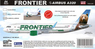 1/144 Scale Decal Frontier A-320 Bear
