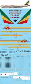 1/72 Scale Decal Ethiopian Airlines 707-320C