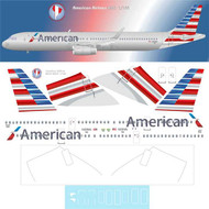 1/144 Scale Decal American A-321