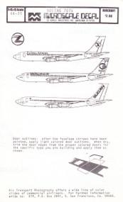 1/144 Scale Decal Zambia / Iraqi / Sudan Airways 707