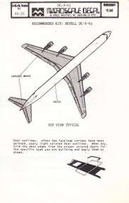 1/144 Scale Decal United / National DC8-61