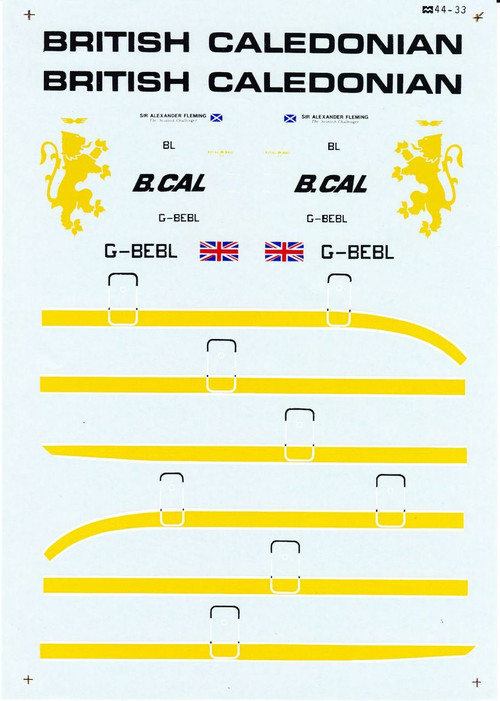 1/144 Scale Decal British Caledonian DC10-30
