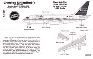 1/144 Scale Decal USAir 737-200