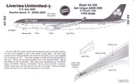 1/144 Scale Decal Aer Lingus A330-300