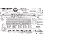 1/144 Scale Decal American Airlines DC-6B