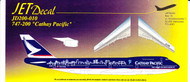 1/200 Scale Decal Cathay Pacific 747-200 Spirit of Hong Kong