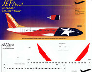 1/144 Scale Decal Southwest 737-300 Texas