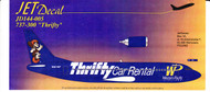 1/144 Scale Decal Western Pacific 737-300 Thrifty Car Rental