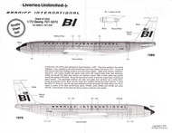 1/72 Scale Decal Braniff International 707-327C