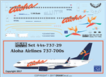 1/144 Scale Decal Alhoa 737-700