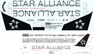 1/144 Scale Decal Air Canada 767-200 STAR ALLIANCE
