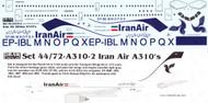 1/144 Scale Decal Iran Air A-310