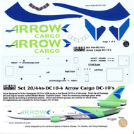 1/144 Scale Decal Arrow Cargo DC-10
