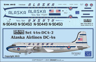 1/144 Scale Decal Alaska Airlines DC-4