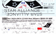 1/144 Scale Decal SAS MD-80 STAR ALLIANCE