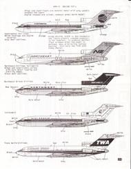 1/200 Scale Decal Continental / Northeast / Northwest / Icelandair / TWA 727
