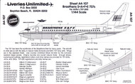 1/144 Scale Decal Braathens S.A.F.E. 737-200
