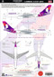 1/144 Scale Decal Hawaiian A330-200
