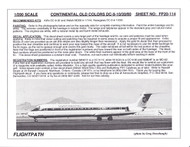 1/200 Scale Decal Continental DC9-10 / 30 & MD-82