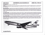 1/200 Scale Decal Continental DC10-30