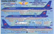 1/144 Scale Decal British Midland A-320 / A-321
