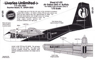 1/72 Scale Decal Air Gabon DHC-4