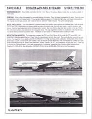1/200 Scale Decal Croatia Airlines A-319 & A-320