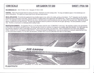1/200 Scale Decal Air Gabon 737-200