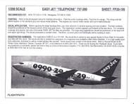 1/200 Scale Decal easyJet Telephone 737-200