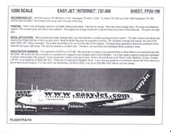 1/200 Scale Decal easyJet Internet 737-300