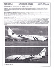 1/200 Scale Decal air Liberte 737-200