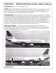 1/200 Scale Decal British AirTours 737-200