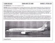 1/200 Scale Decal Dan-Air London 737-400