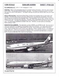 1/200 Scale Decal Dan-Air London A300-B4