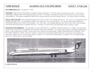 1/200 Scale Decal Alaska Airlines MD-80