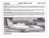 1/200 Scale Decal Braniff 737-200 REEBOCK