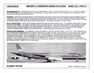 1/200 Scale Decal Braniff International DC8-50 / 62 LIGHT GREEN / DARK GREEN