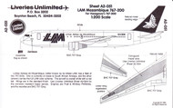 1/200 Scale Decal LAM Mozambique 767-200