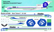 1/144 Scale Decal Alaska Airlines 727-200 Seahawk 1