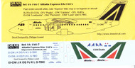1/144 Scale Decal Alitalia Express / Azzurra RJ70