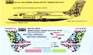 1/144 Scale Decal British Airways RJ-100 Animals and Trees